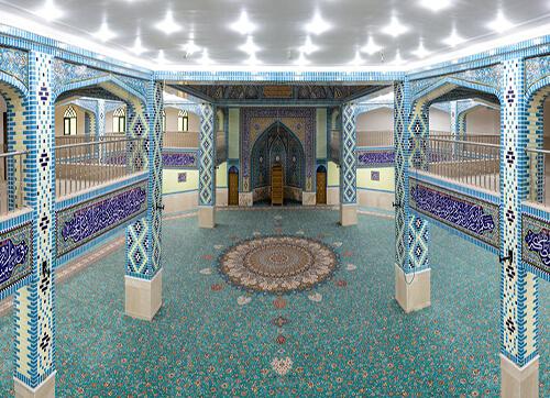 فرش مسجد جامع امیرآباد میبد یزد