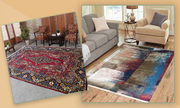 Wool and organic machine-made carpet